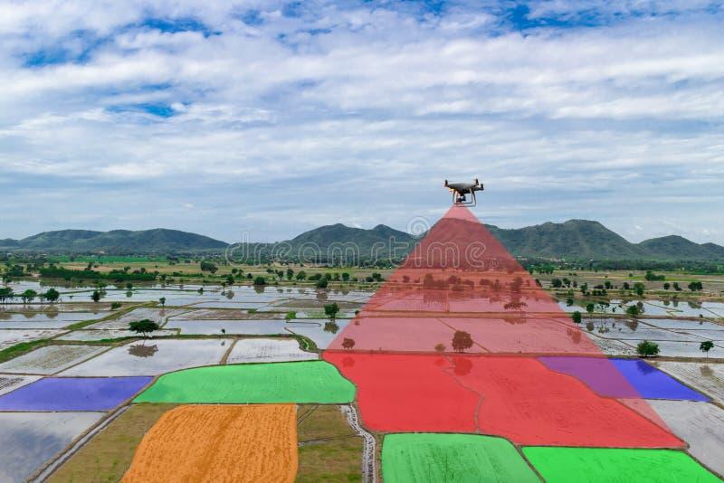 农夫控制无人飞机道尔红外农业自动化 免版税图库摄影