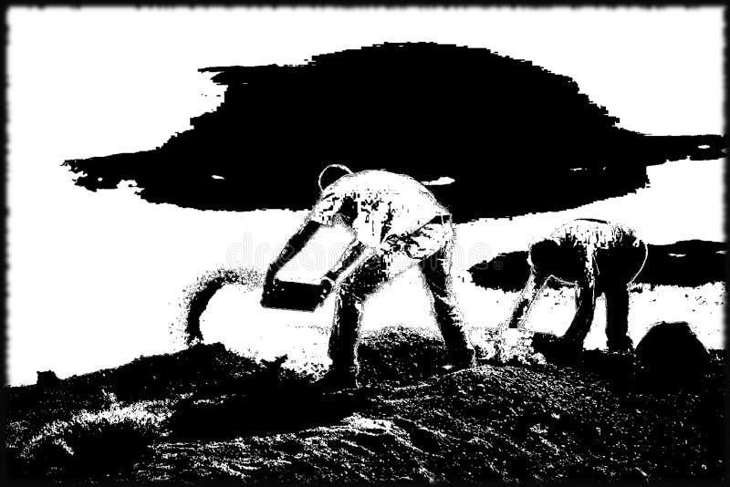 农夫B&W 免版税库存照片