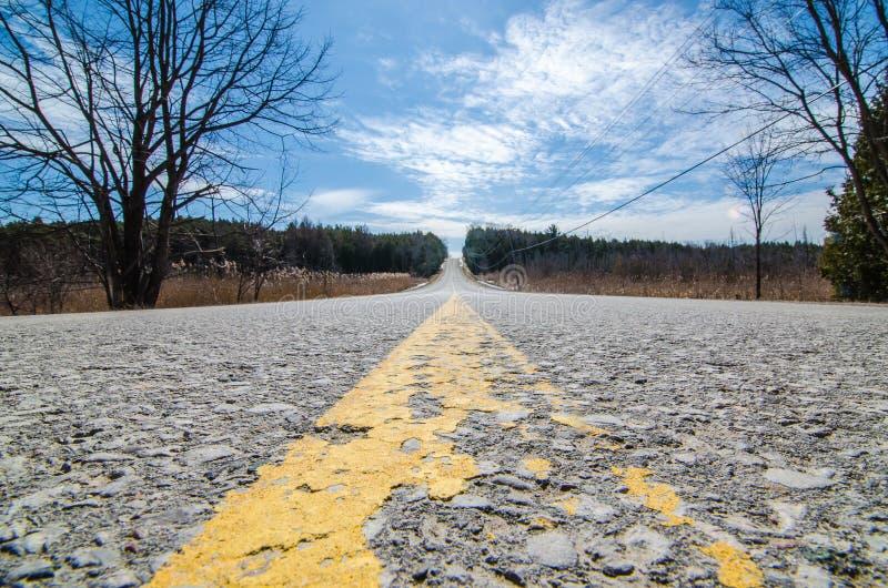 农村乡下公路安大略加拿大 免版税库存照片