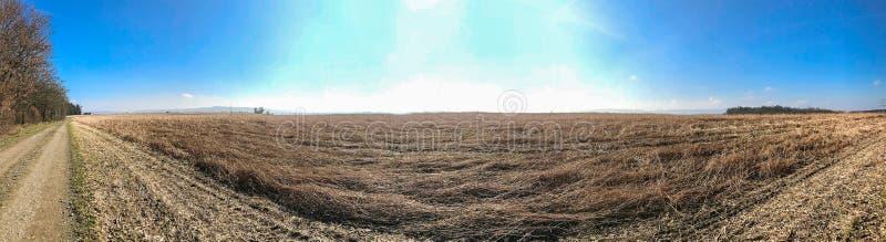 农村全景风景视图在巴伐利亚 免版税库存图片