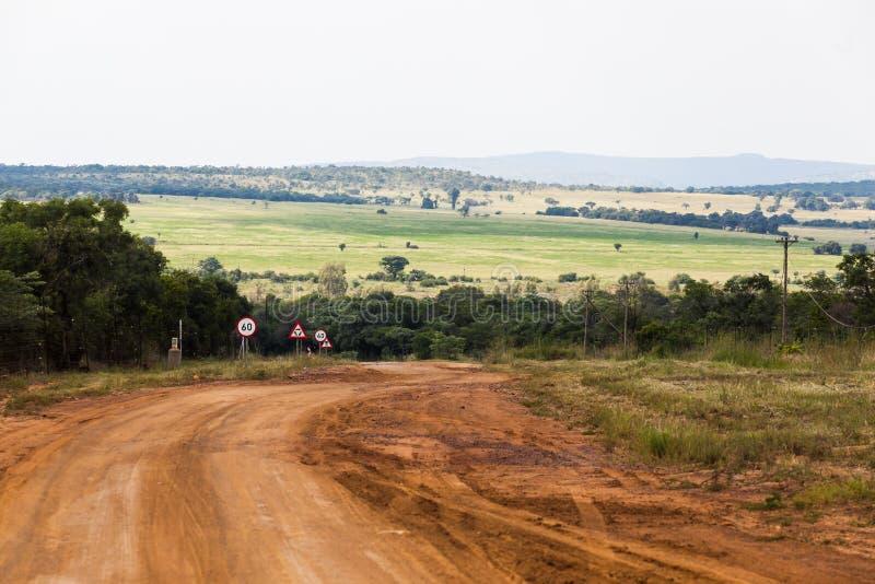 农村农场马路 免版税库存图片