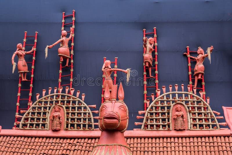 农村印地安黏土装饰 图库摄影