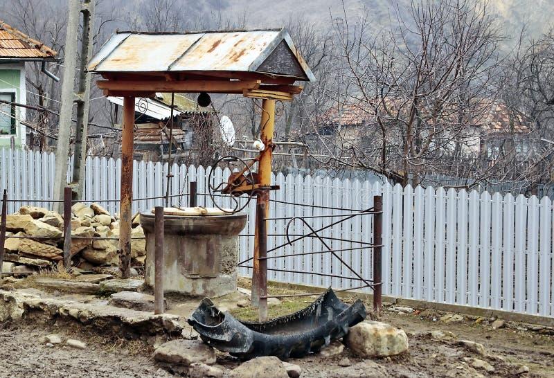 农村喷泉 库存照片