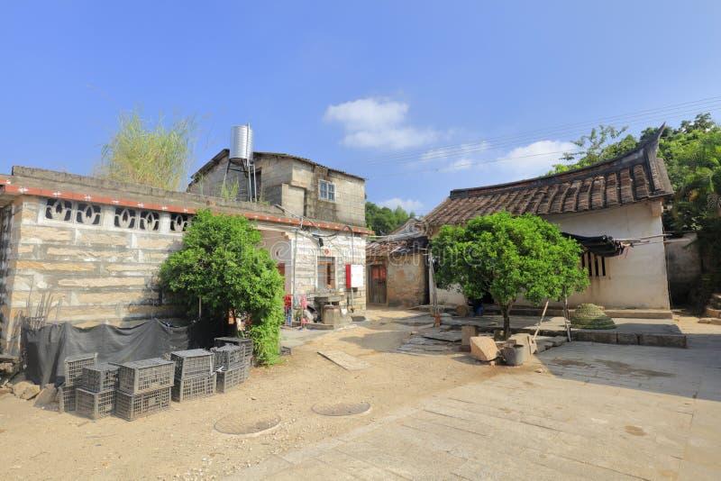农村庭院在zhaojiabao村庄,多孔黏土rgb 免版税库存照片