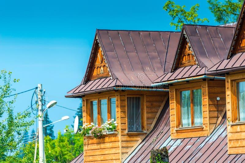 农村房子特写镜头元素-顶楼 库存图片