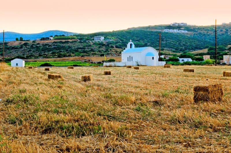 农村教会 免版税库存图片