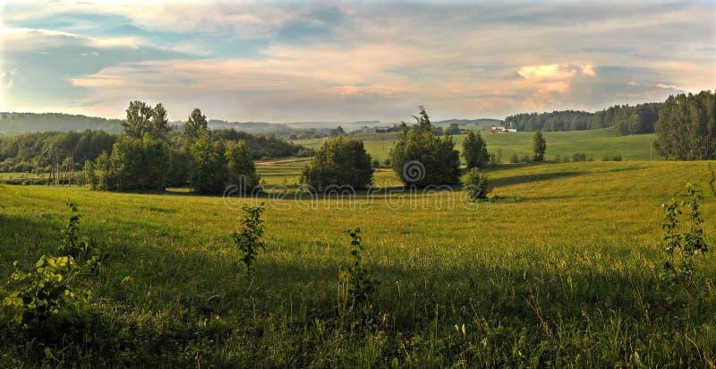 农村横向的全景 免版税库存照片