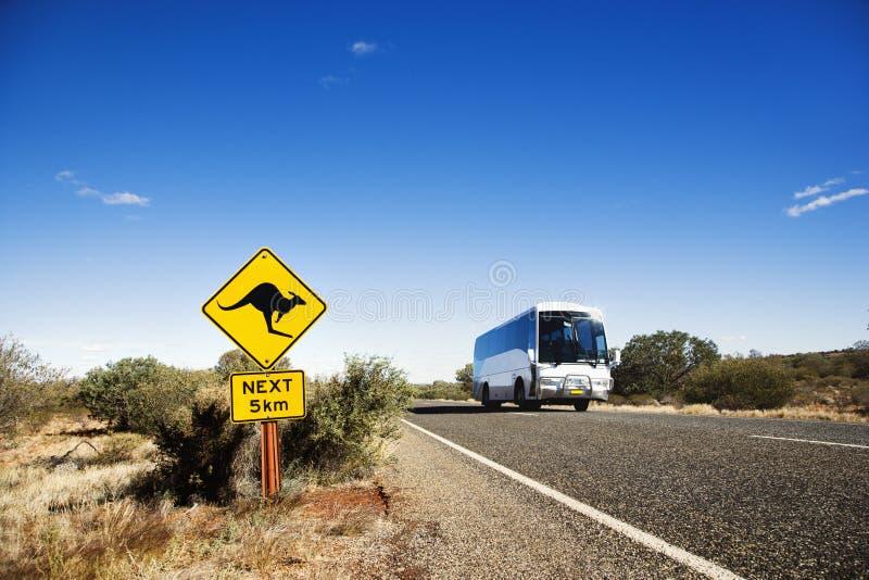 农村澳洲的公共汽车 库存图片