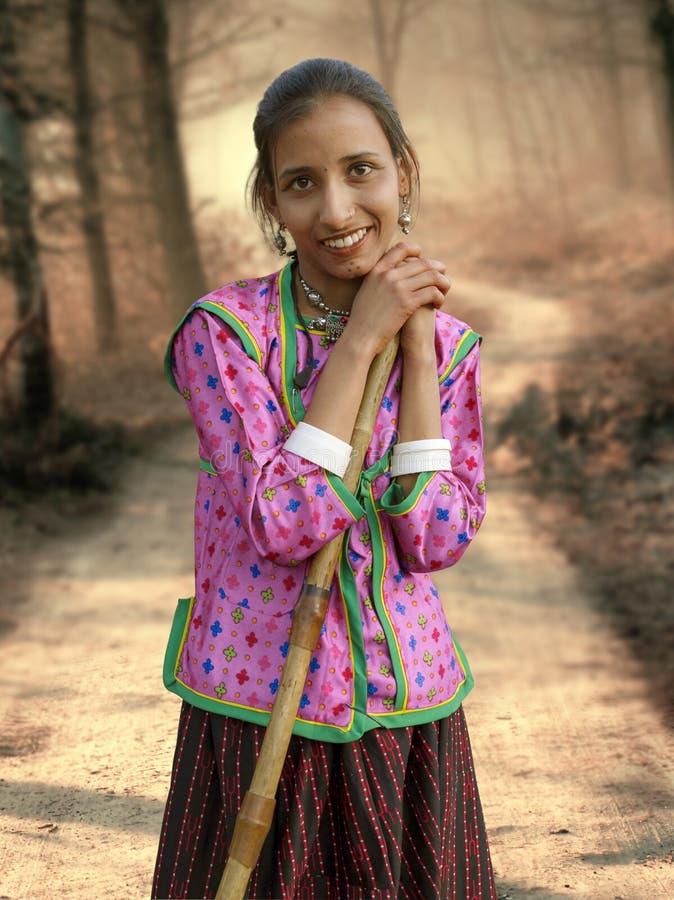 农村的女孩 库存图片