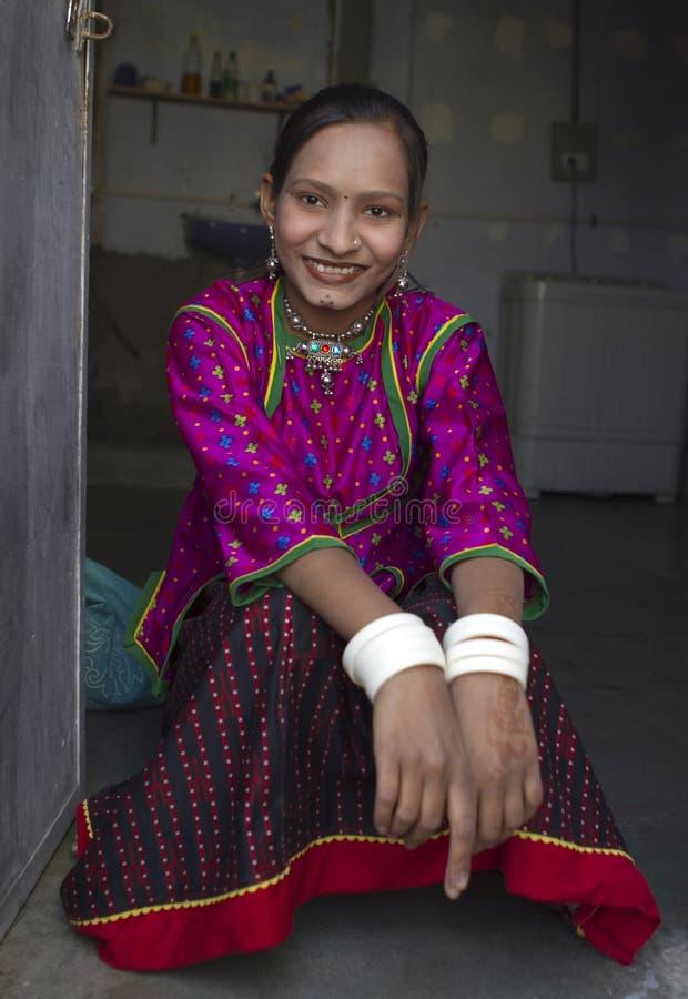 农村的女孩 免版税库存照片