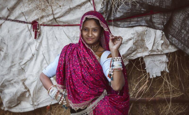 农村的女孩 免版税库存图片