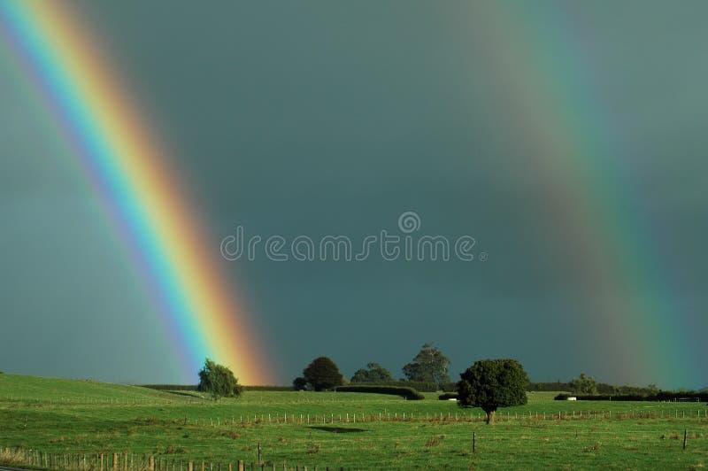 农村的彩虹 免版税库存图片