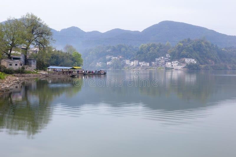 农村的轮渡 图库摄影