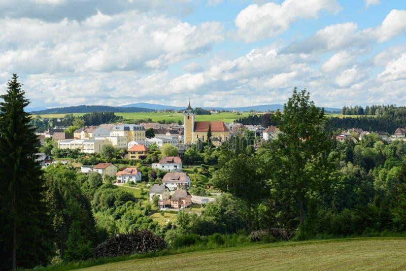 农村社区Neufelden -奥地利 库存照片