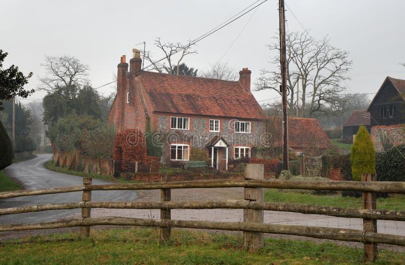 农村英国的农舍 图库摄影