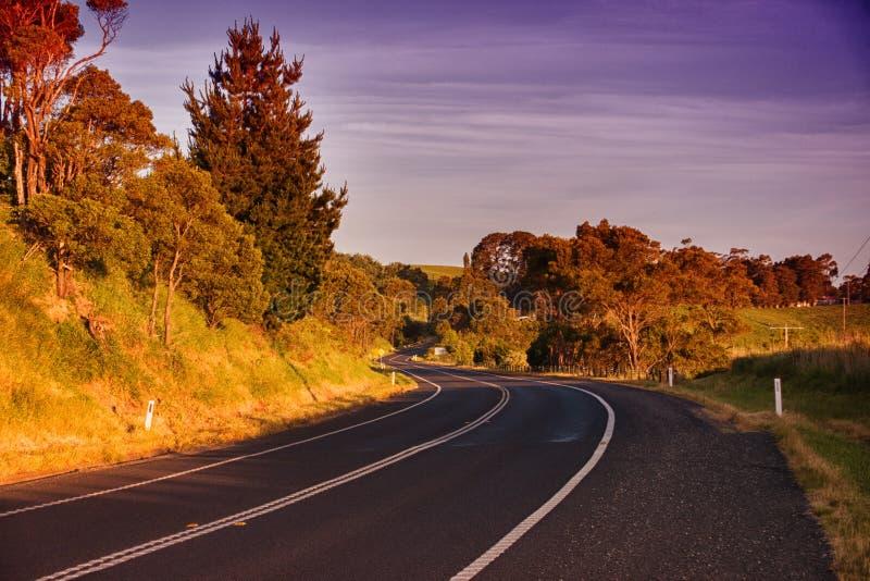 农村路在澳大利亚 免版税库存照片