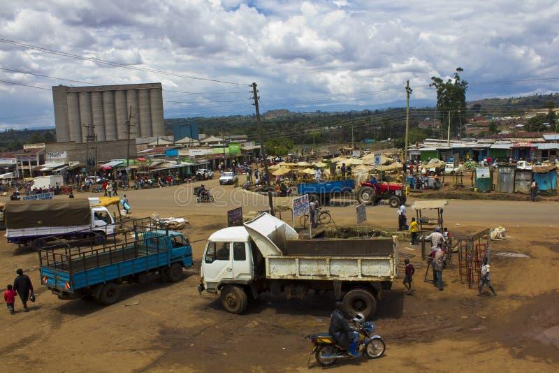 农村镇在非洲 免版税库存图片