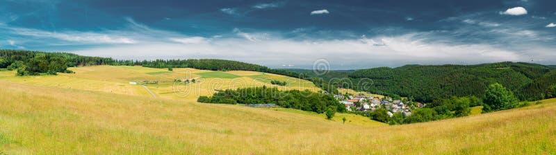 农村风景全景在德国 免版税库存图片