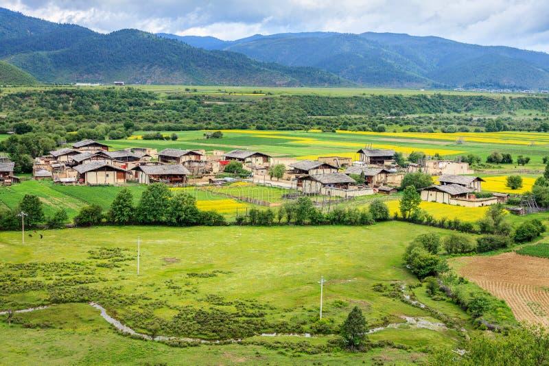农村风景,香格里拉 库存照片