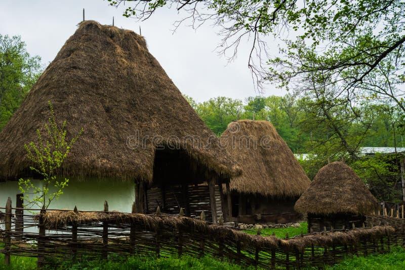 农民房子,阿斯特拉民族志学村庄博物馆,锡比乌,罗马尼亚 库存图片