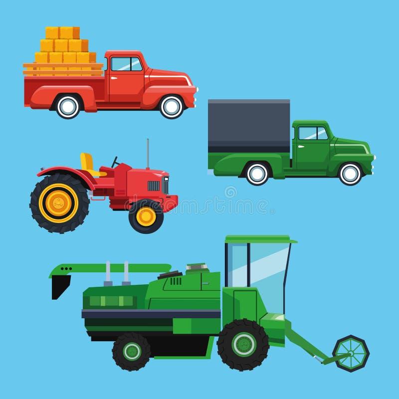 农用拖拉机和车 库存例证