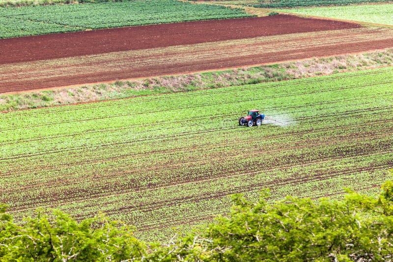 农用拖拉机庄稼 免版税库存照片