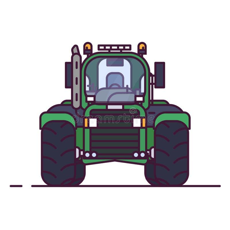 农用拖拉机正面图  皇族释放例证
