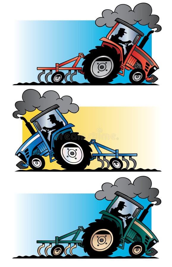 农用拖拉机犁 免版税库存照片