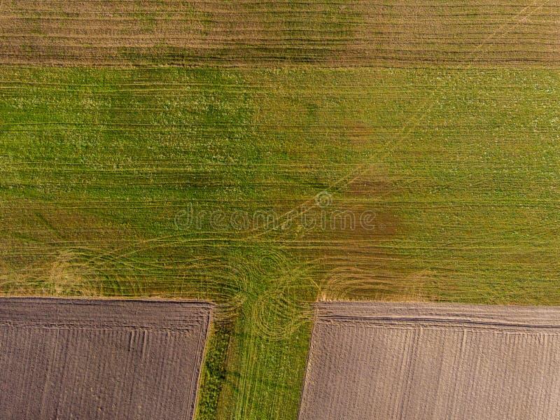 农田寄生虫视图从上面的 免版税库存图片