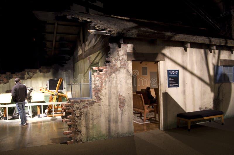 农舍博物馆在飞行博物馆  库存照片