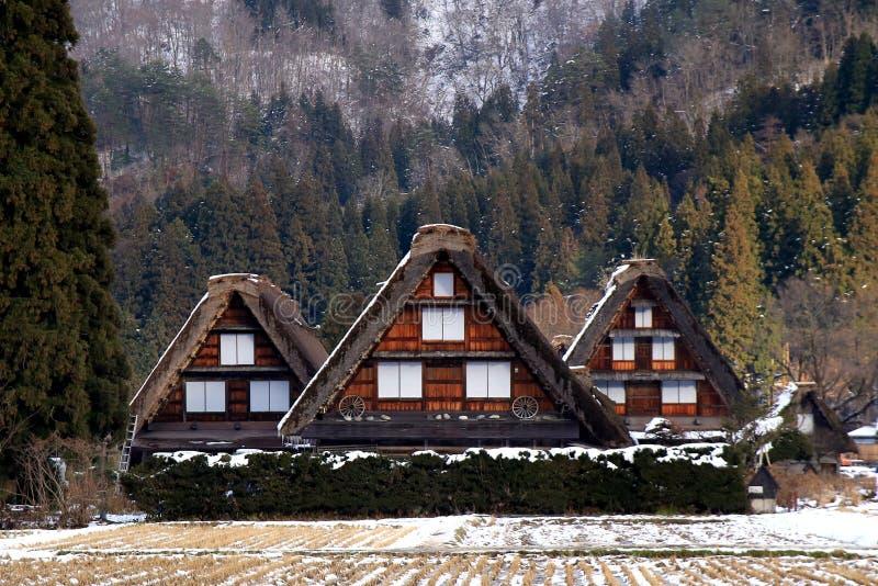 农舍在Shirakawago 免版税库存照片