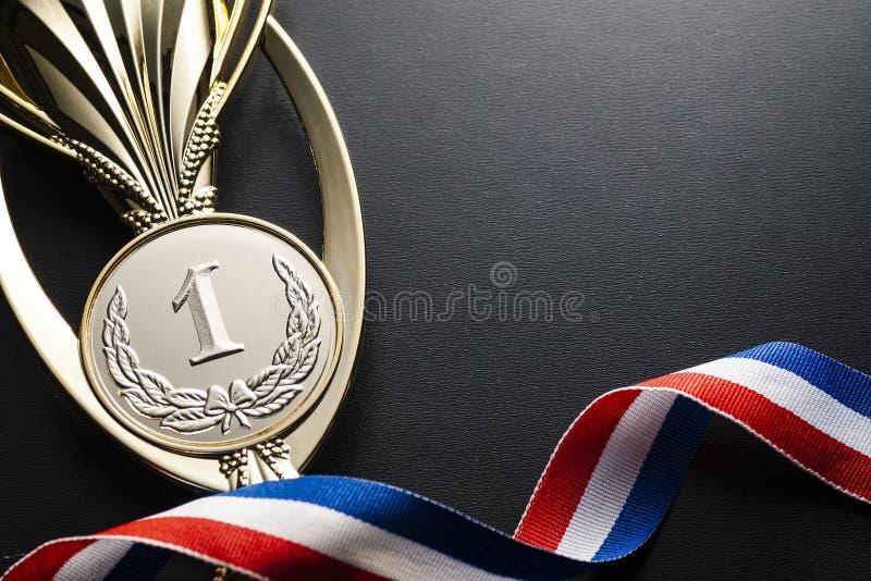 冠军事件的优胜者的金战利品 免版税库存图片