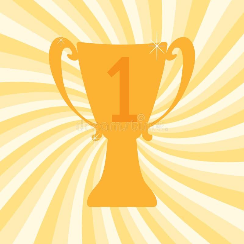 冠军优胜者第一个地方的战利品杯子 库存例证