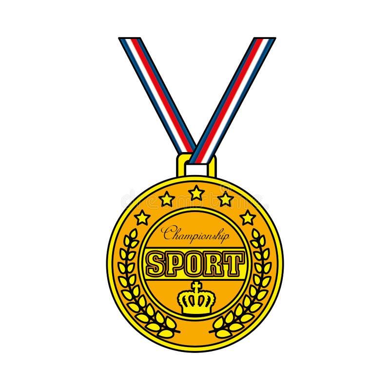 冠军体育奖牌象 皇族释放例证
