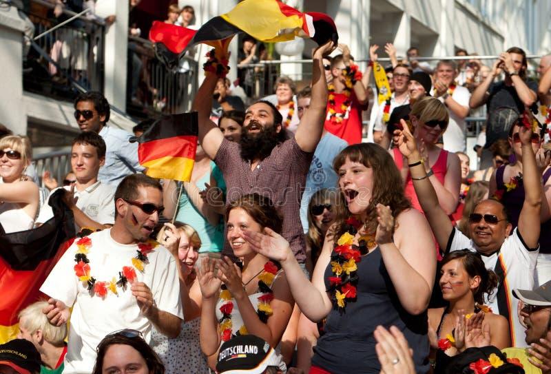 冠军扇动德国足球世界 免版税库存照片