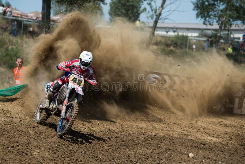 冠军摩托车越野赛mx3斯洛伐克wmx世界 免版税库存照片