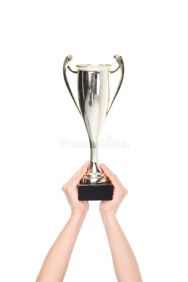 冠军杯 库存图片