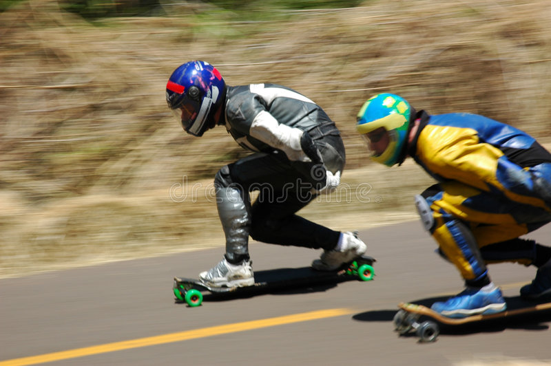 冠军滑冰的速度 免版税库存照片
