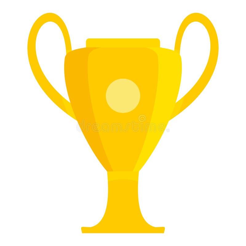 冠军足球杯子象,平的样式 皇族释放例证