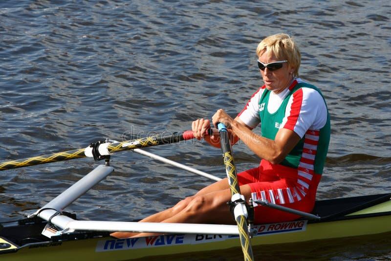 冠军ekaterina karsten被重复的奥林匹克 免版税库存照片