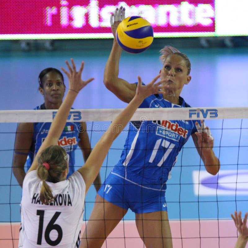 冠军fivb意大利s排球妇女 免版税库存照片