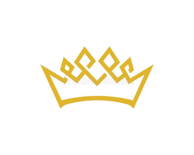 冠商标模板传染媒介象例证设计 库存例证