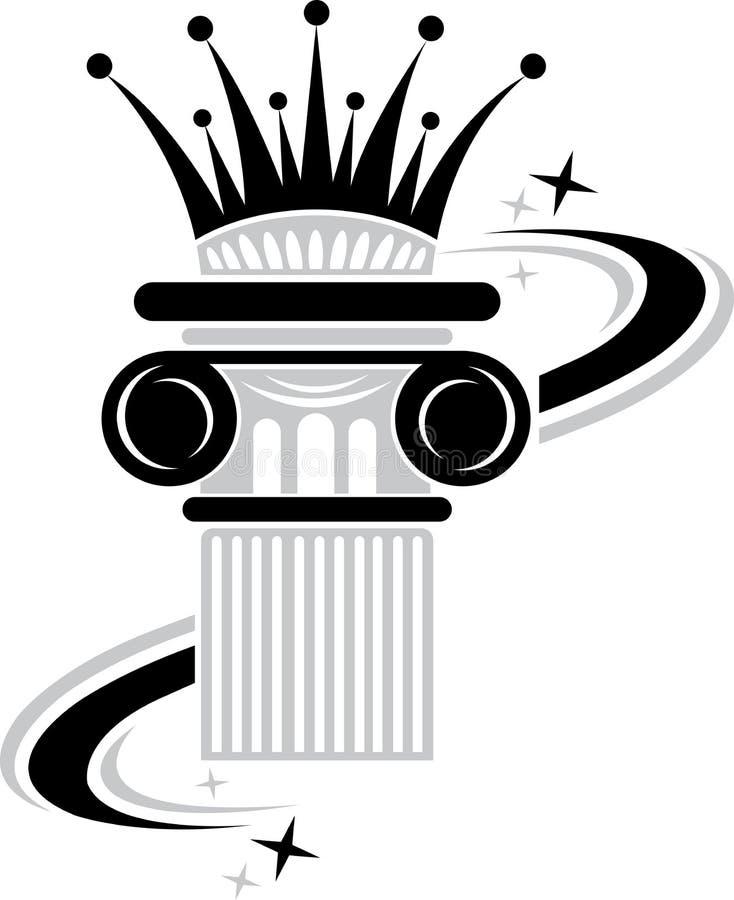 冠柱子 向量例证