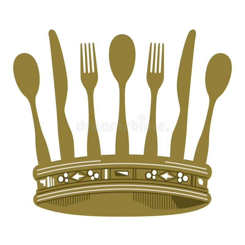 冠正餐 向量例证