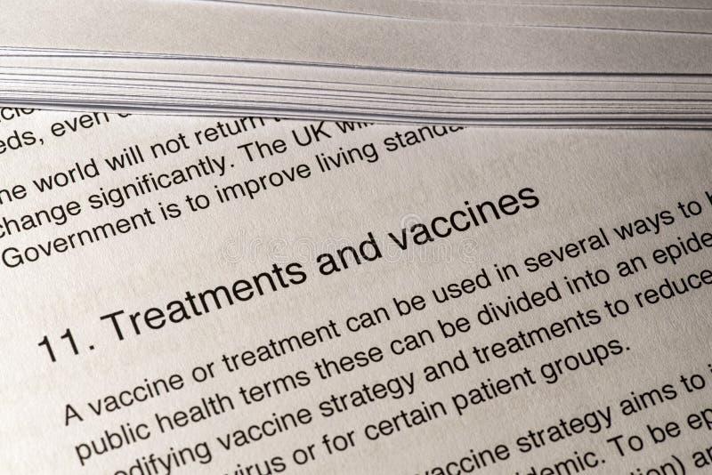 冠状病毒的治疗和疫苗 免版税库存照片
