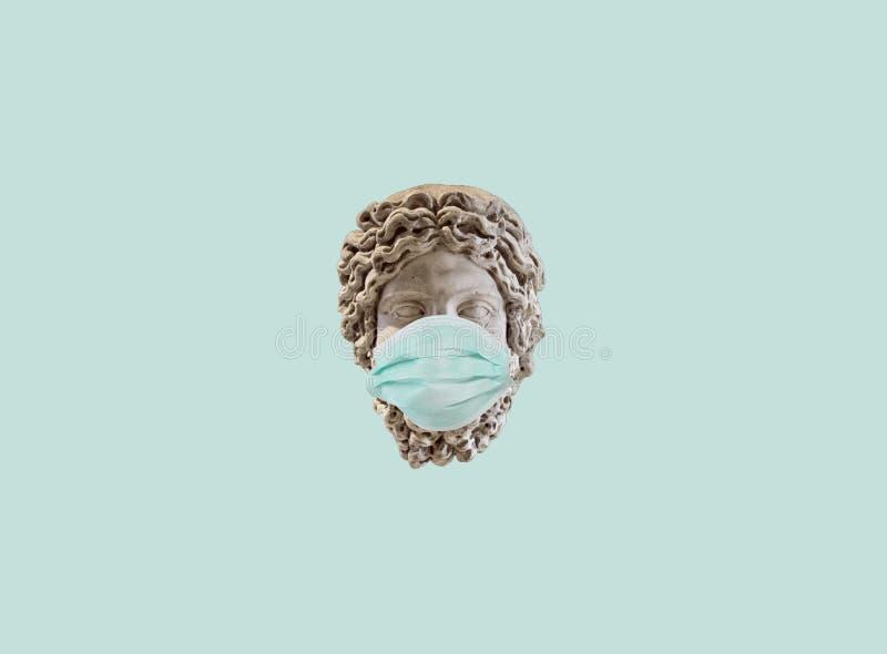 冠状病毒艺术面具冠状病毒艺术面具 皇族释放例证