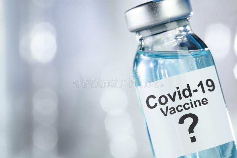 冠状病毒Covid 19病毒疫苗瓶的可能治疗 免版税库存图片