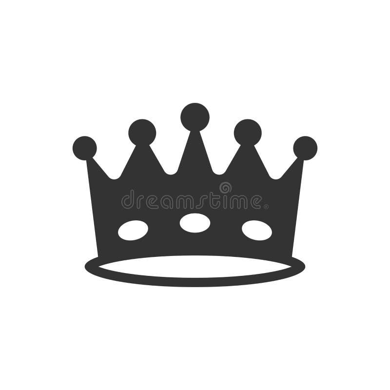 冠王冠在平的样式的传染媒介象 皇族冠illustrati 皇族释放例证