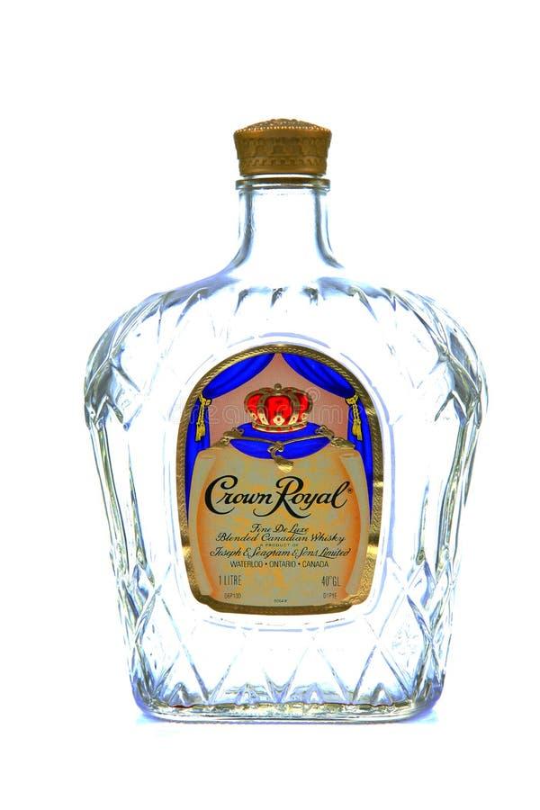 冠皇家威士忌酒 库存照片