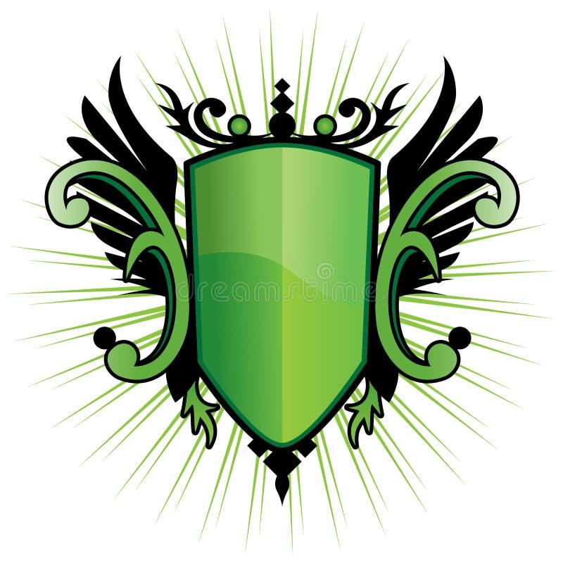 冠绿色使者 皇族释放例证